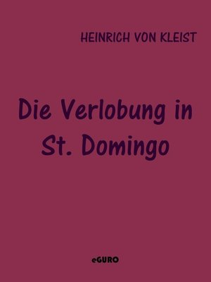 cover image of Die Verlobung in St. Domingo